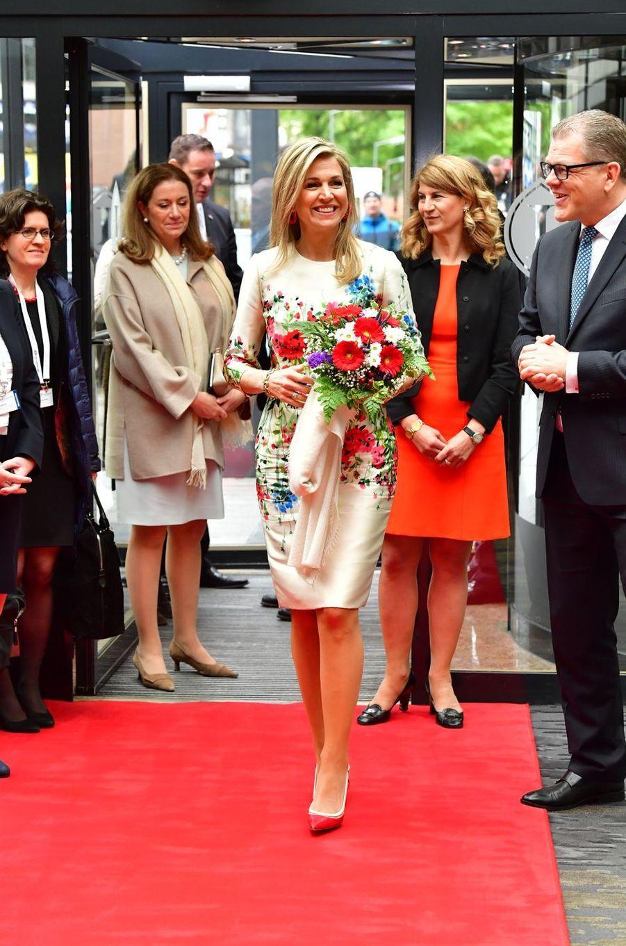 La reine Maxima des Pays-Bas au sommet Women 20 à Berlin, le 25 avril 2017