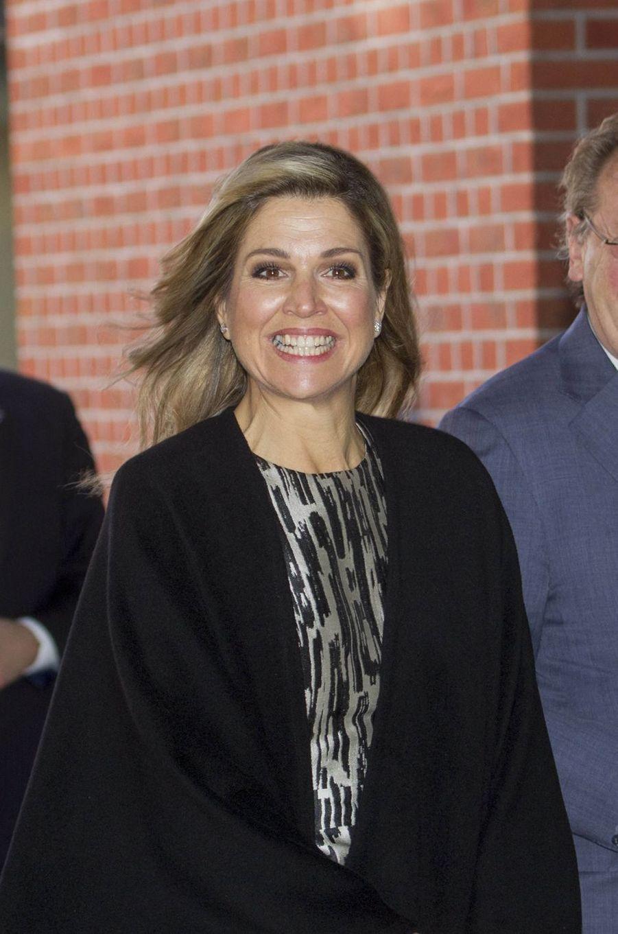 La reine Maxima des Pays-Bas à La Haye, le 21 mars 2017