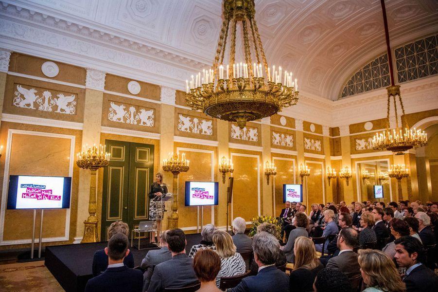 La reine Maxima des Pays-Bas à La Haye, le 22 mars 2017