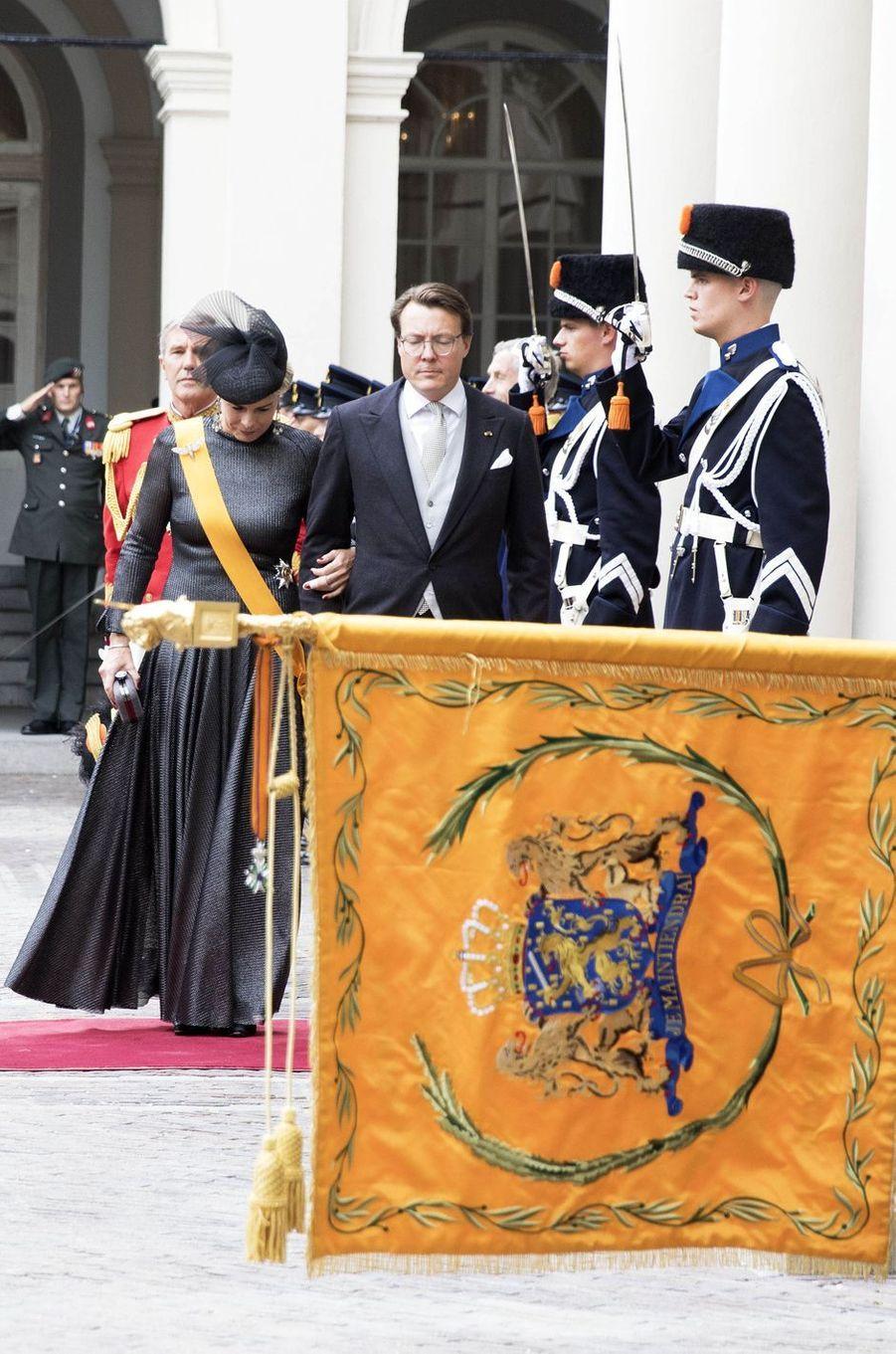 La princesse Laurentien et le prince Constantijn des Pays-Bas à La Haye, le 20 septembre 2016