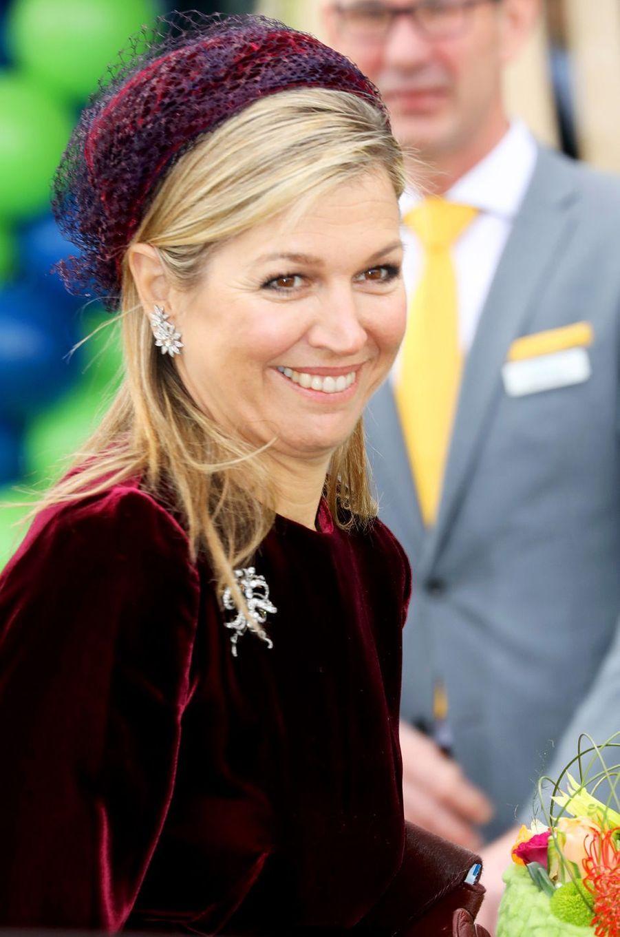 Le bibi de la reine Maxima des Pays-Bas à Westland, le 7 mars 2018