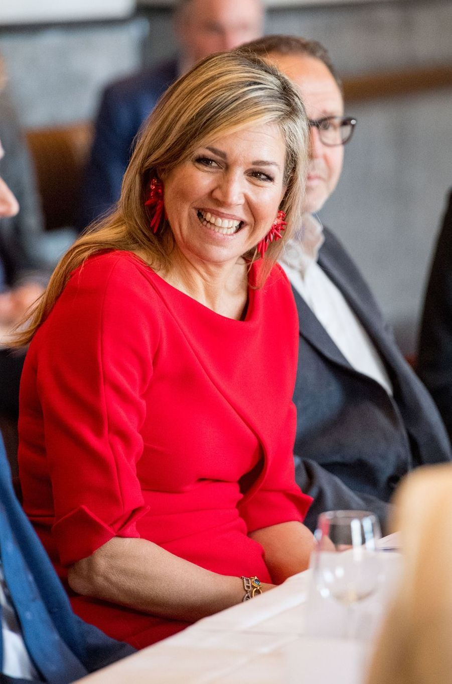 La reine Maxima des Pays-Bas à Amsterdam, le 10 avril 2018