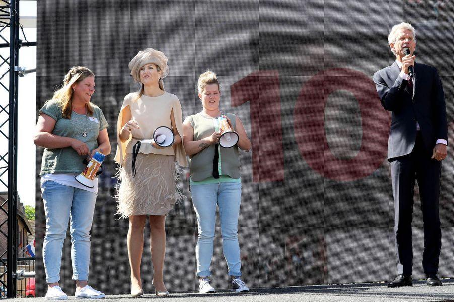 La reine Maxima des Pays-Bas à Urk, le 9 juin 2016