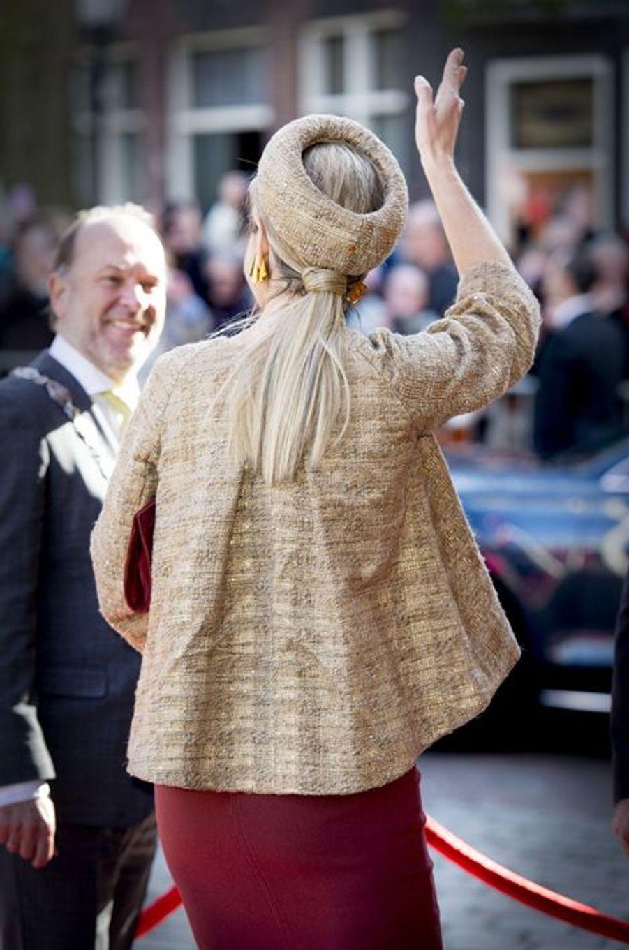 La reine Maxima des Pays-Bas à Flardingue, le 14 mars 2016