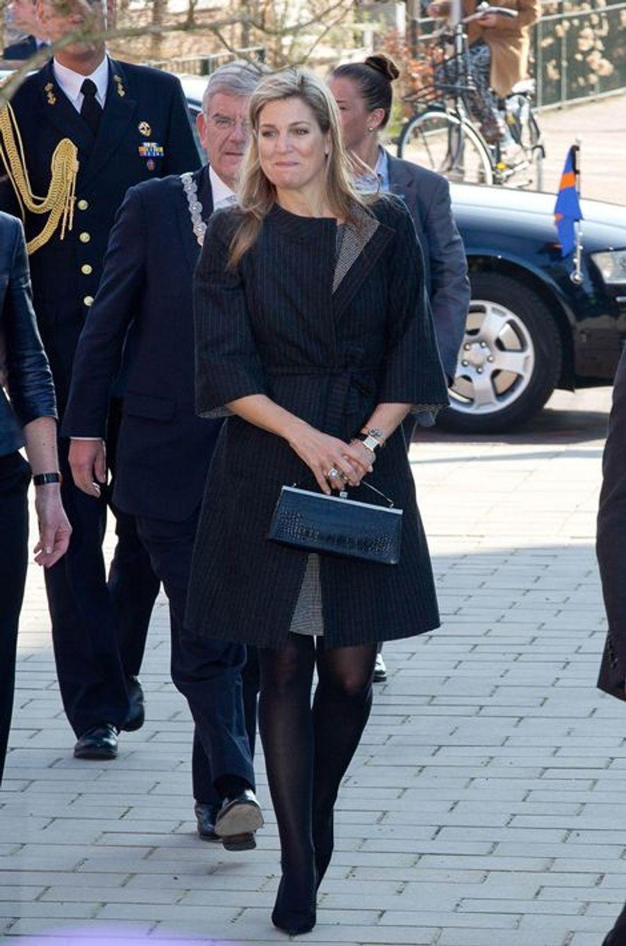 La reine Maxima des Pays-Bas à Vleuten, le 14 mars 2016