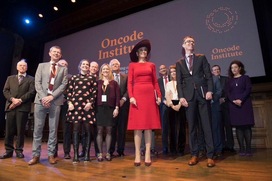 La reine Maxima des Pays-Bas à Amsterdam, le 5 février 2018