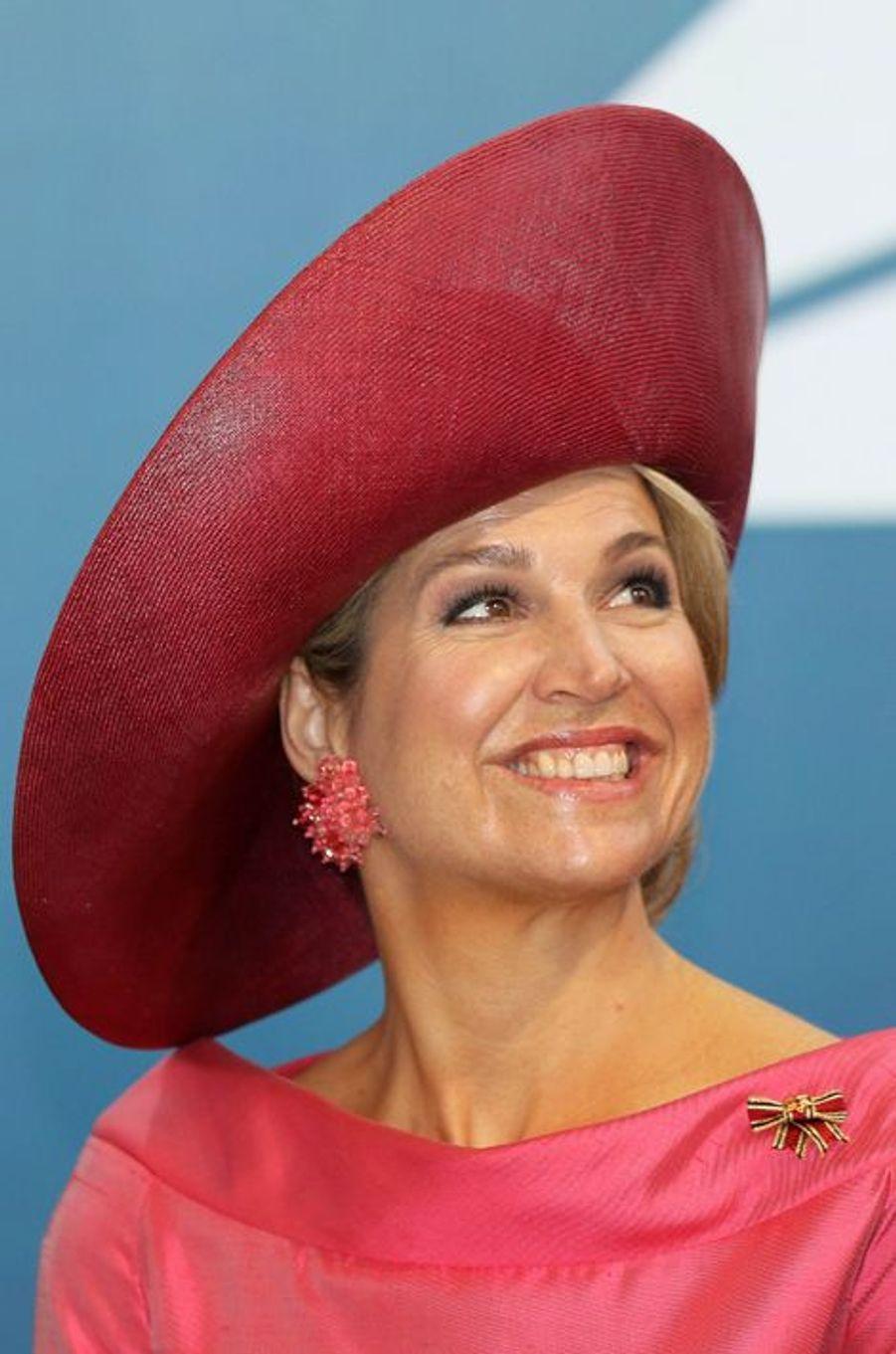 La reine Maxima des Pays-Bas à Munich, le 13 avril 2016