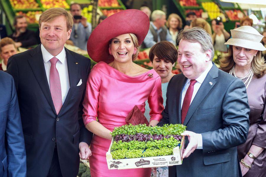 La reine Maxima et le roi Wilem-Alexander des Pays-Bas à Munich, le 13 avril 2016