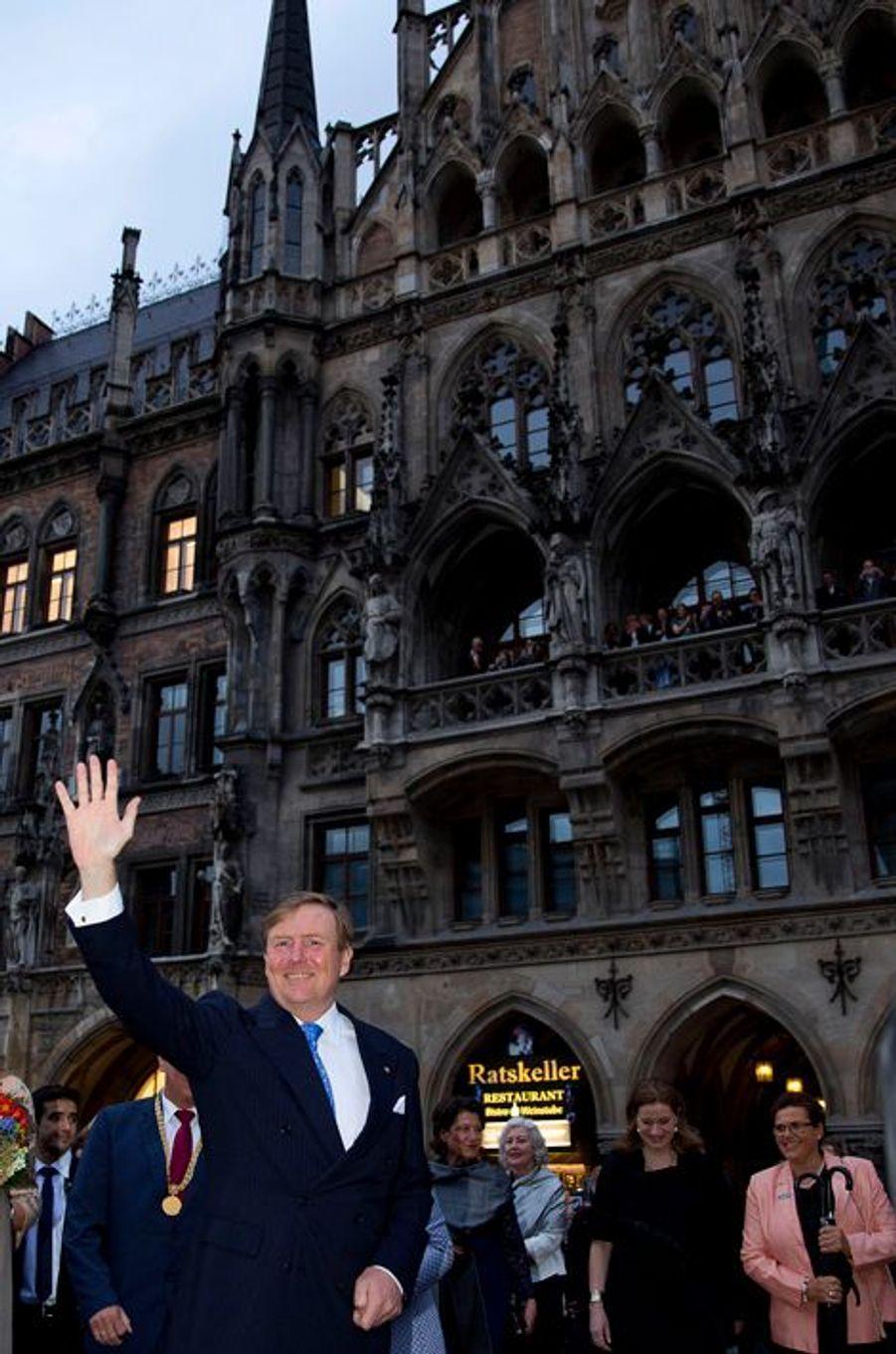 Le roi Wilem-Alexander des Pays-Bas à Munich, le 13 avril 2016
