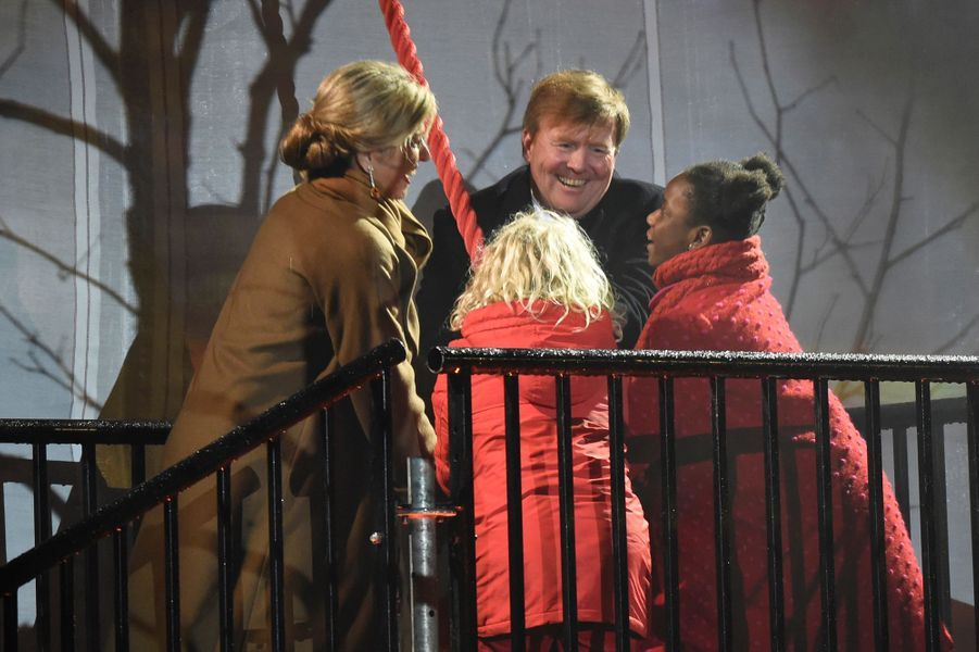 La reine Maxima et le roi Willem-Alexander des Pays-Bas lancent Leeuwarden capitale de la culture 2018, le 27 janvier 2018