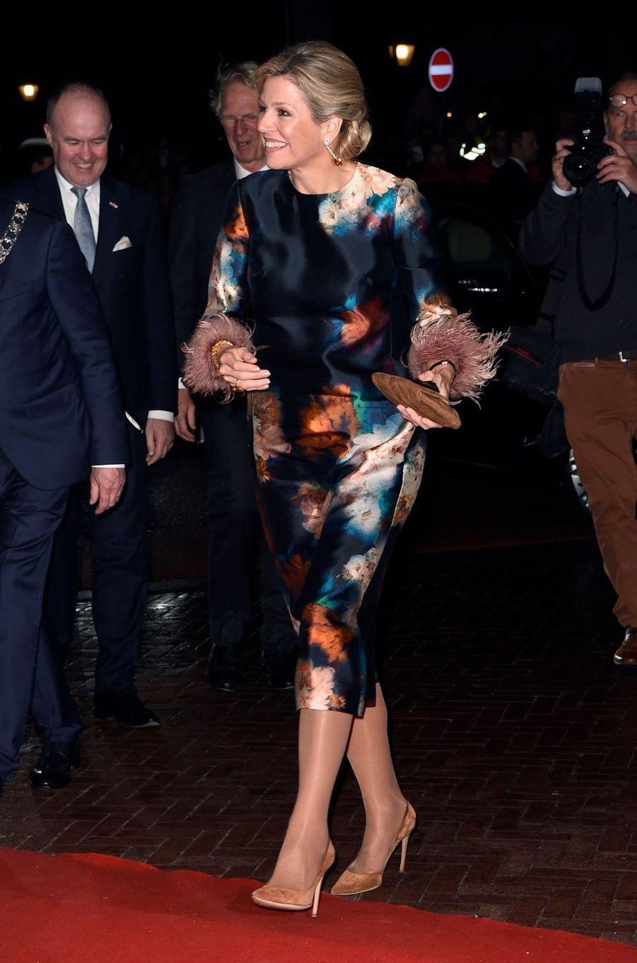 La reine Maxima des Pays-Bas à Leeuwarden, le 27 janvier 2018