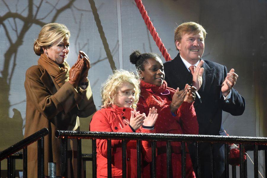 La reine Maxima et le roi Willem-Alexander des Pays-Bas à Leeuwarden, le 27 janvier 2018
