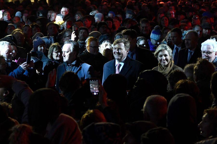 Le roi Willem-Alexander et la reine Maxima des Pays-Bas à Leeuwarden, le 27 janvier 2018