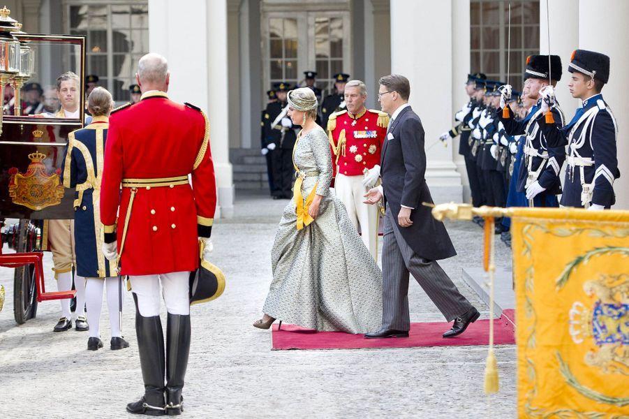 La princesse Laurentien et le prince Constantijn des Pays-Bas à La Haye, le 19 septembre 2017