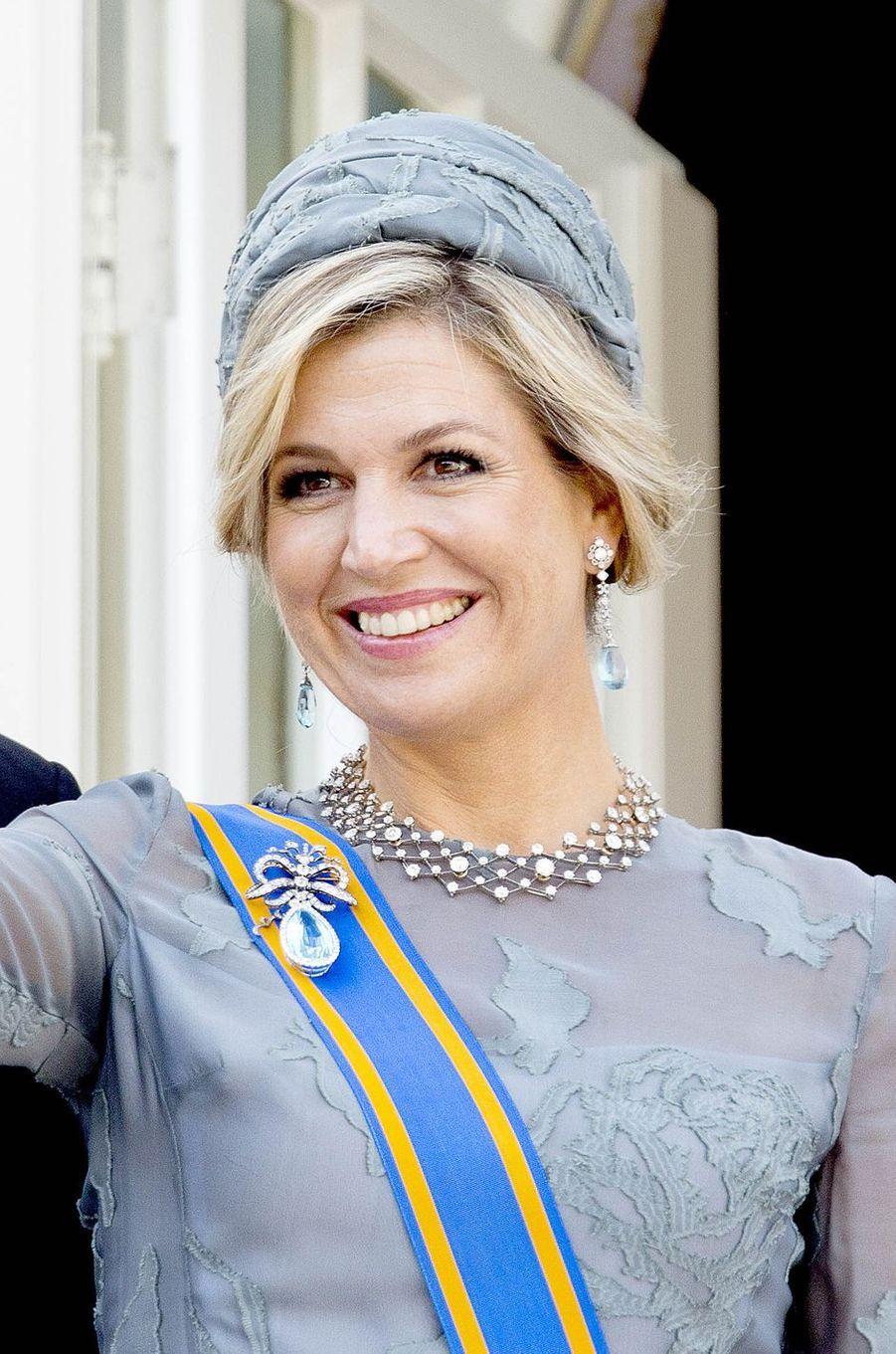 La reine Maxima des Pays-Bas à La Haye, le 19 septembre 2017