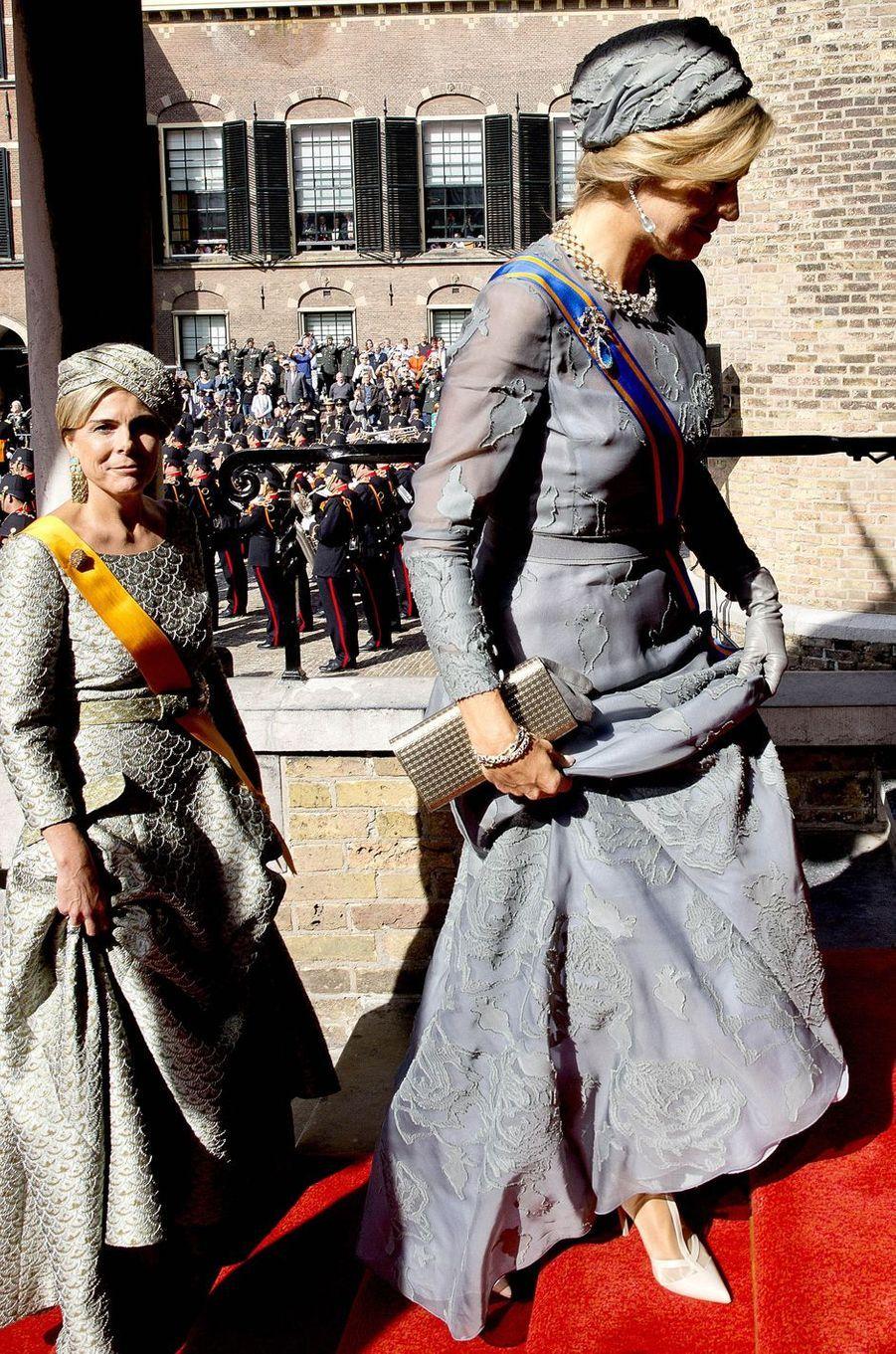 La reine Maxima et la princesse Laurentien des Pays-Bas à La Haye, le 19 septembre 2017