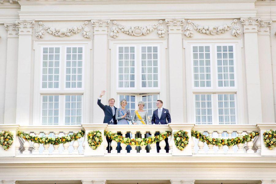 La reine Maxima, le roi Willem-Alexander, la princesse Laurentien et le prince Constantijn des Pays-Bas à La Haye, le 19 septembre 2017