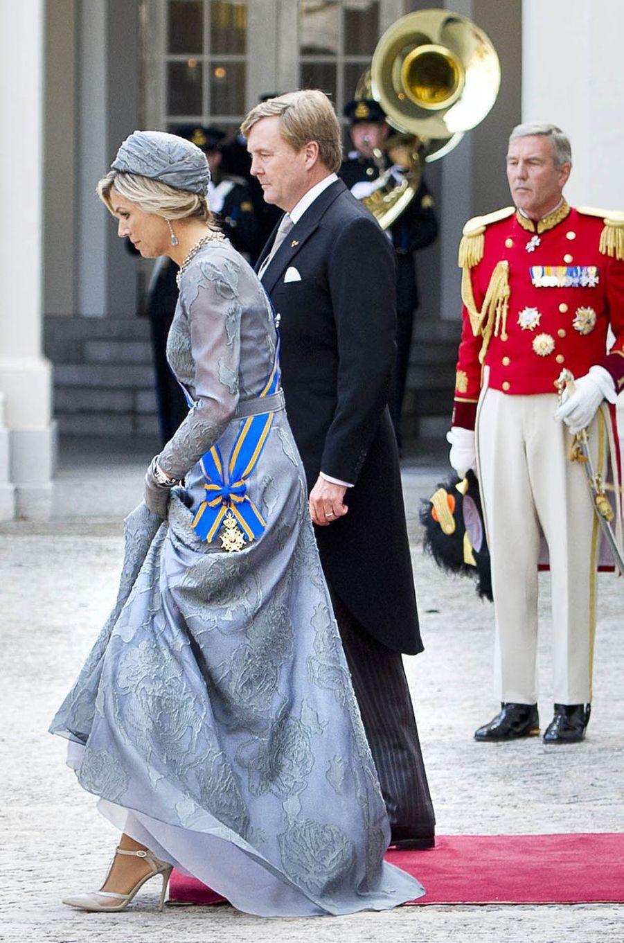 La reine Maxima et le roi Willem-Alexander des Pays-Bas à La Haye, le 19 septembre 2017