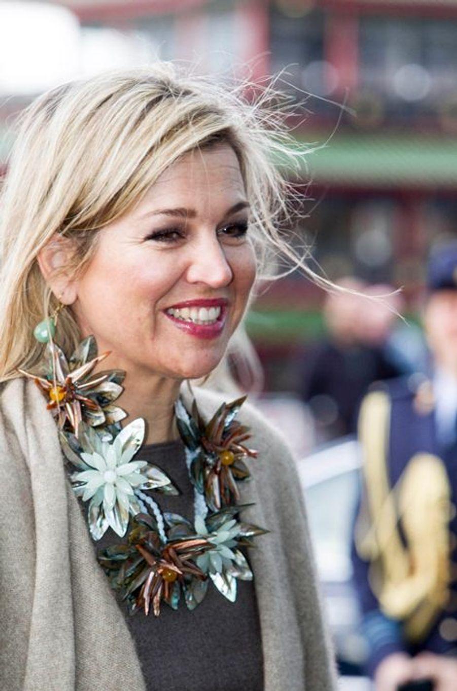 La reine Maxima des Pays-Bas à Amsterdam, le 20 mars 2016