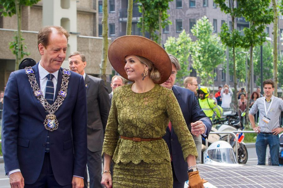La reine Maxima des Pays-Bas à Eindhoven, le 2 juin 2016