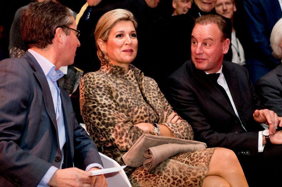 La reine Maxima des Pays-Bas à Enschede, le 22 novembre 2016