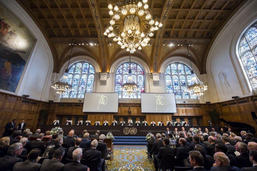 Le roi Willem-Alexander au Palais de la paix à La Haye, le 20 avril 2016