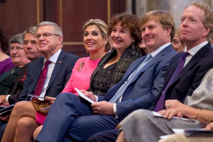 La reine Maxima et le roi Willem-Alexander des Pays-Bas à Amsterdam, le 28 novembre 2017