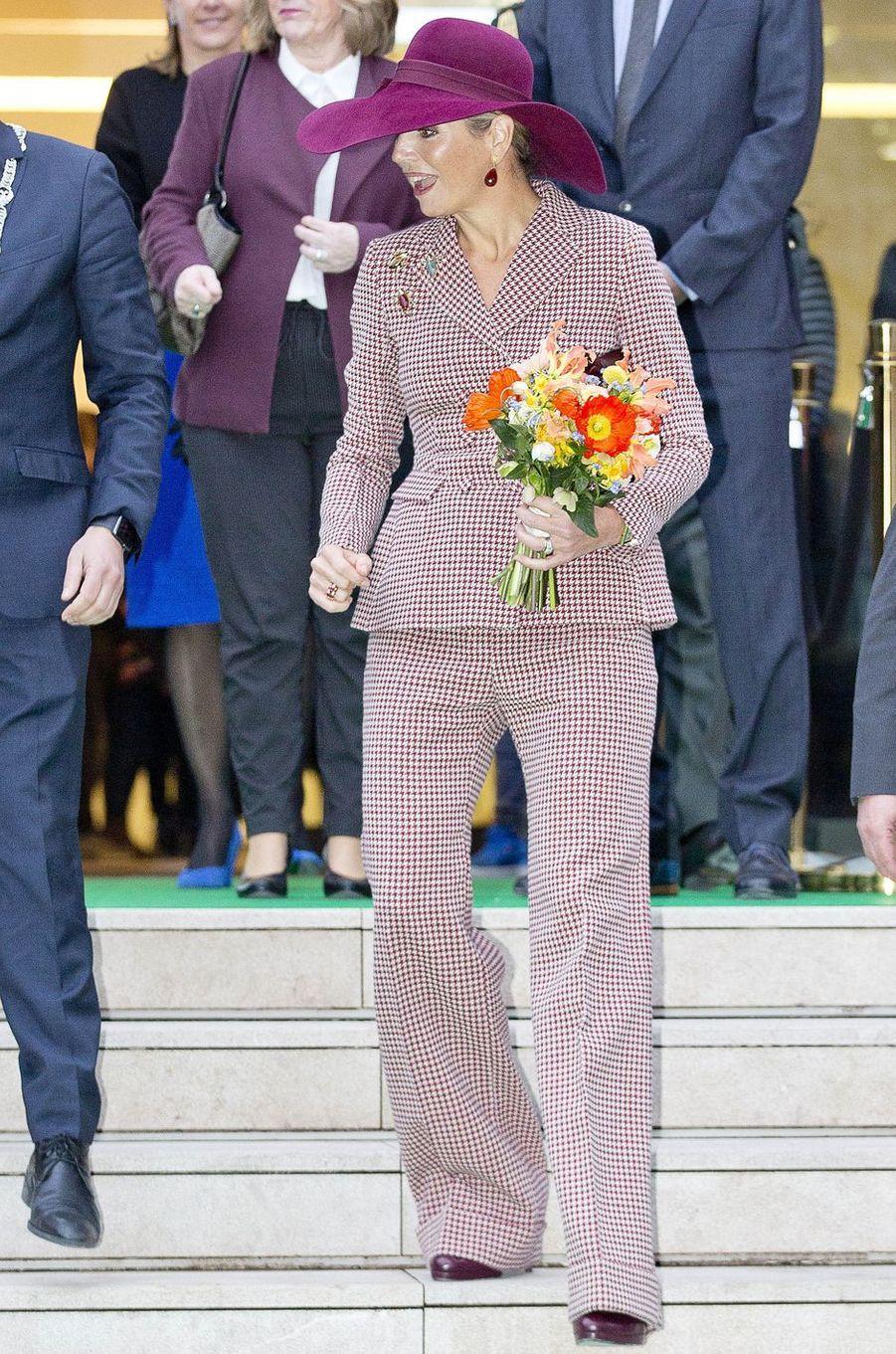 La reine Maxima des Pays-Bas en Natan à Arnhem, le 12 janvier 2018