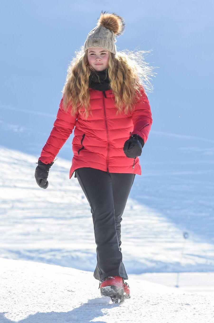 La princesse Catharina-Amalia des Pays-Bas à Lech, le 26 février 2018