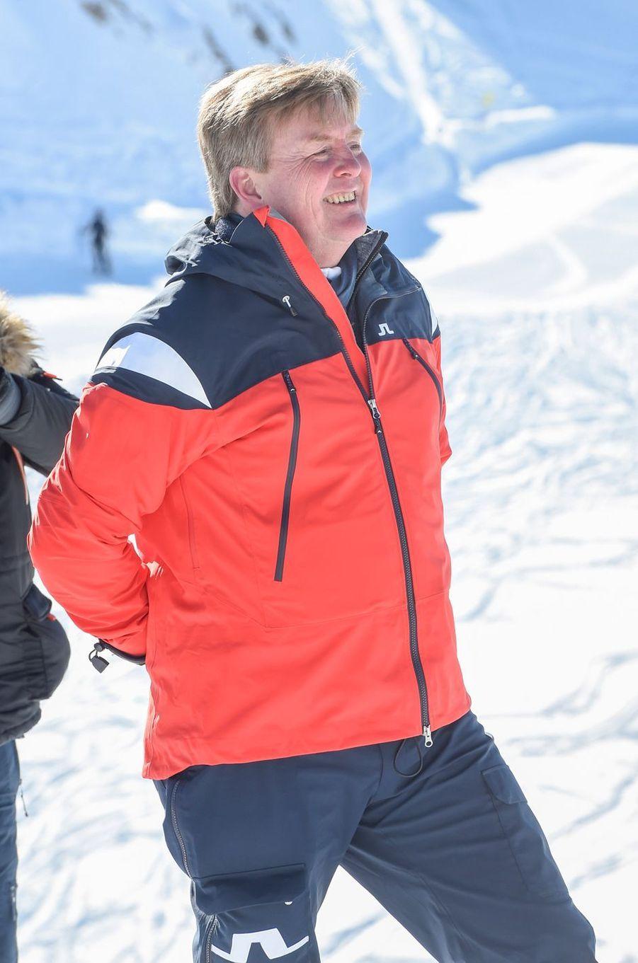 Le roi Willem-Alexander des Pays-Bas à Lech, le 26 février 2018