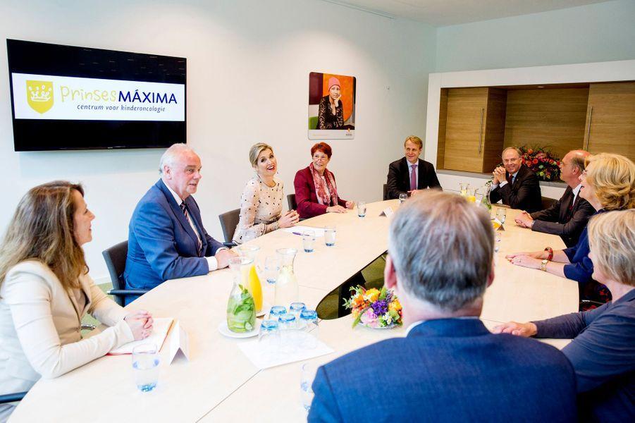 La reine Maxima des Pays-Bas à Utrecht, le 18 mai 2017