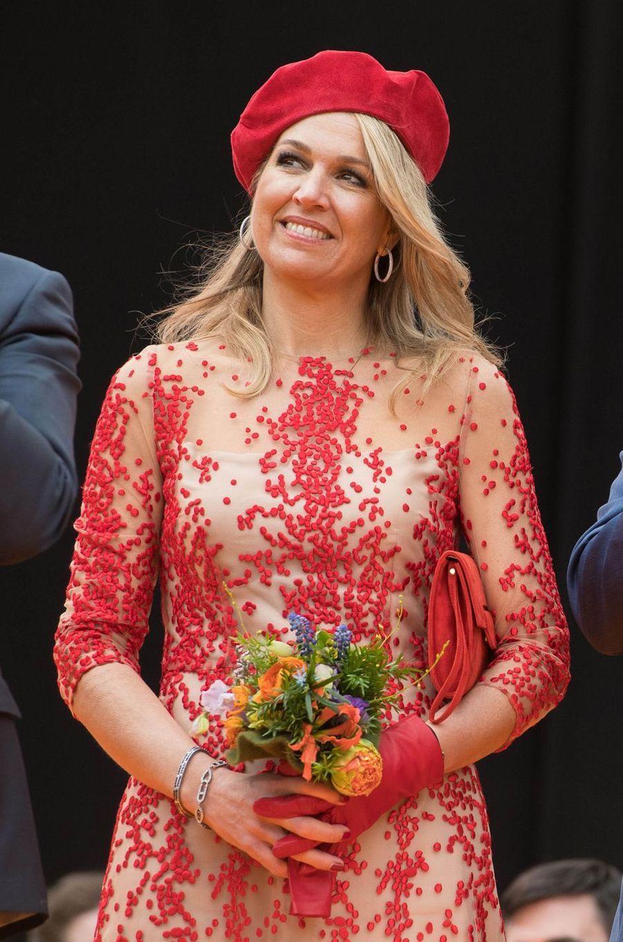 La reine Maxima des Pays-Bas à Groningen, le 27 avril 2018
