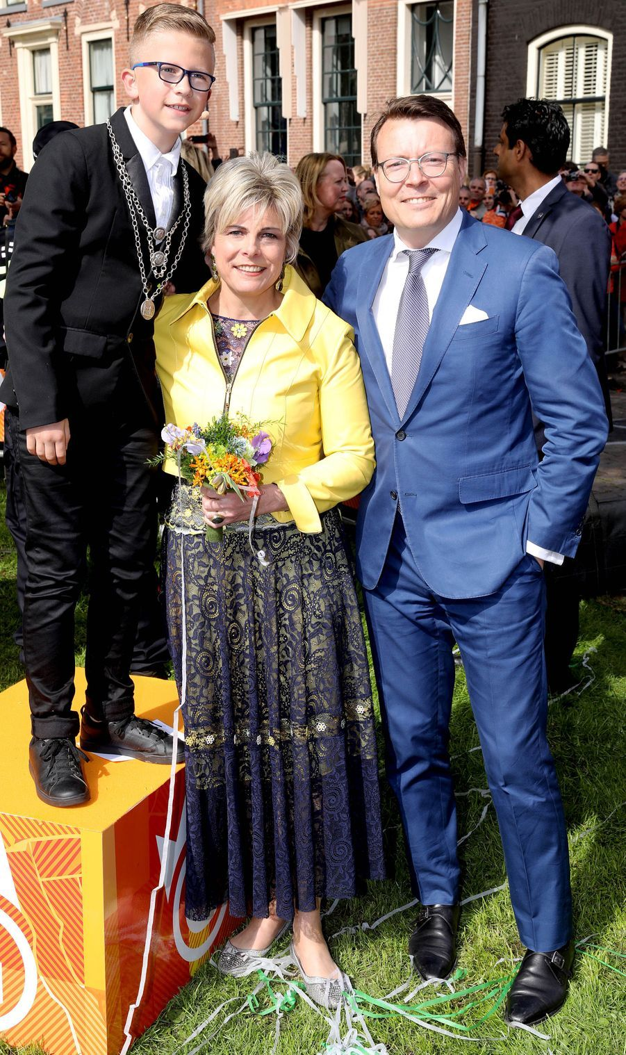 La princesse Laurentien et le prince Constantijn des Pays-Bas, à Groningen le 27 avril 2018
