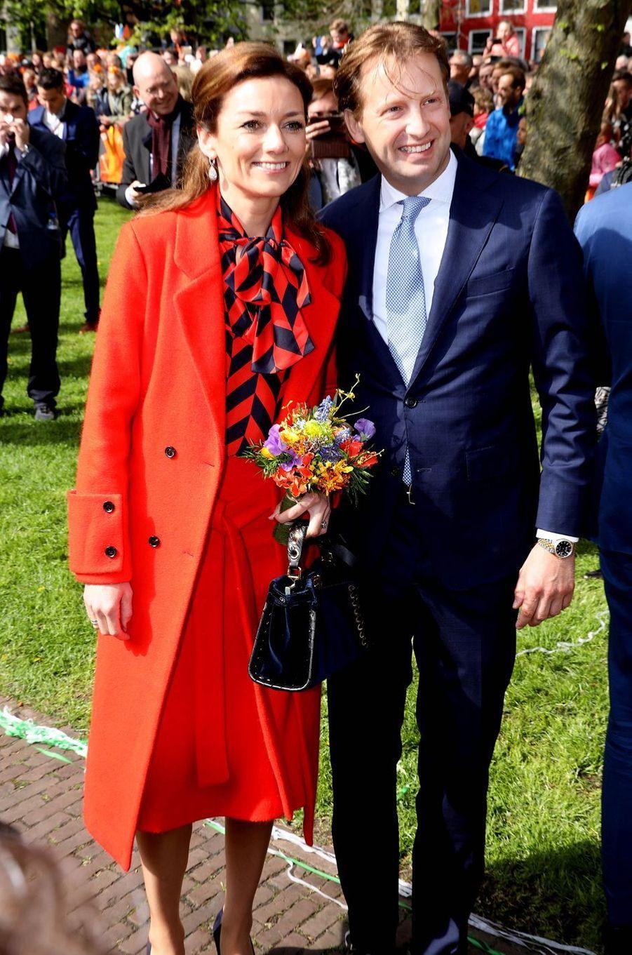 La princesse Aimée et le prince Floris des Pays-Bas, à Groningen le 27 avril 2018