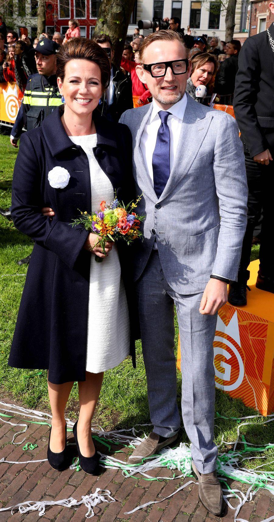 La princesse Annette et le prince Bernhard des Pays-Bas, à Groningen le 27 avril 2018