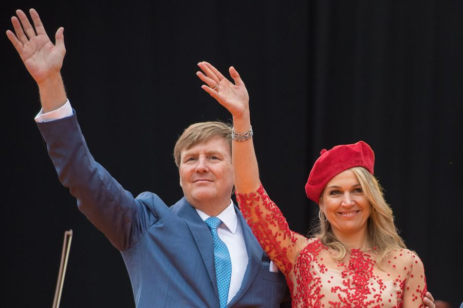 La reine Maxima et le roi Willem-Alexander des Pays-Bas à Groningen, le 27 avril 2018