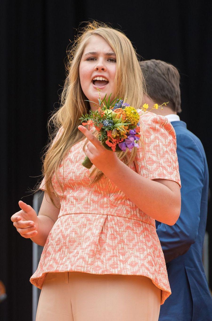 La princesse Catharina-Amalia des Pays-Bas, à Groningen le 27 avril 2018