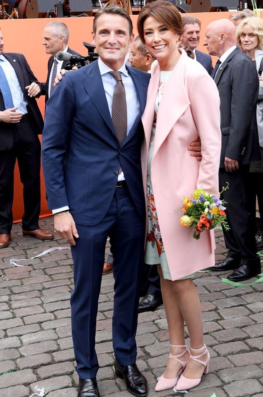 La princesse Marilene et le prince Floris des Pays-Bas, à Groningen le 27 avril 2018