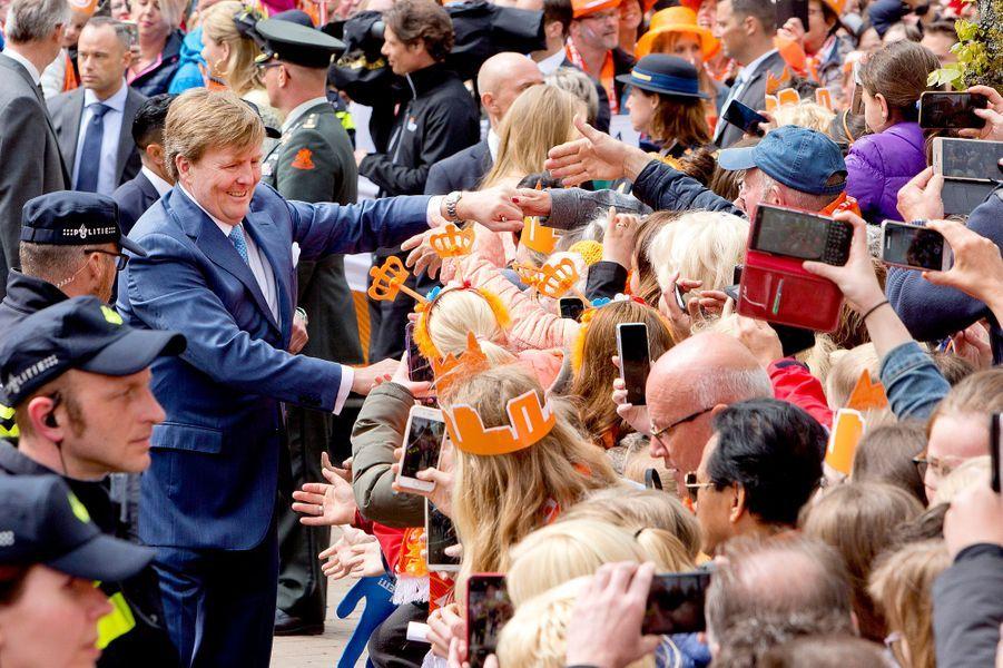 Le roi Willem-Alexander des Pays-Bas à Groningen, le 27 avril 2018