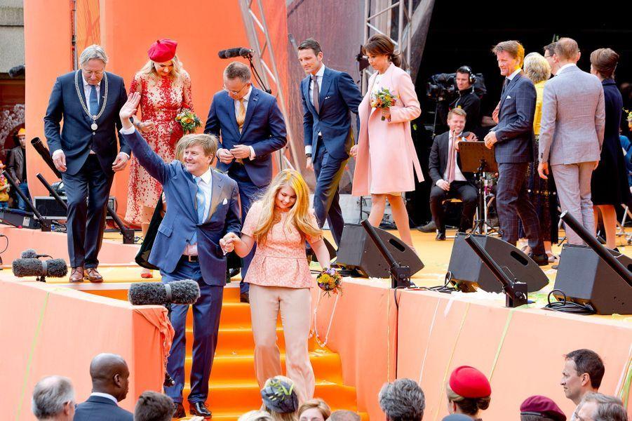 La famille royale des Pays-Bas à Groningen, le 27 avril 2018
