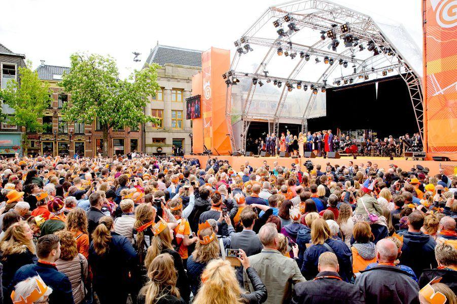 La famille royale des Pays-Bas, à Groningen le 27 avril 2018