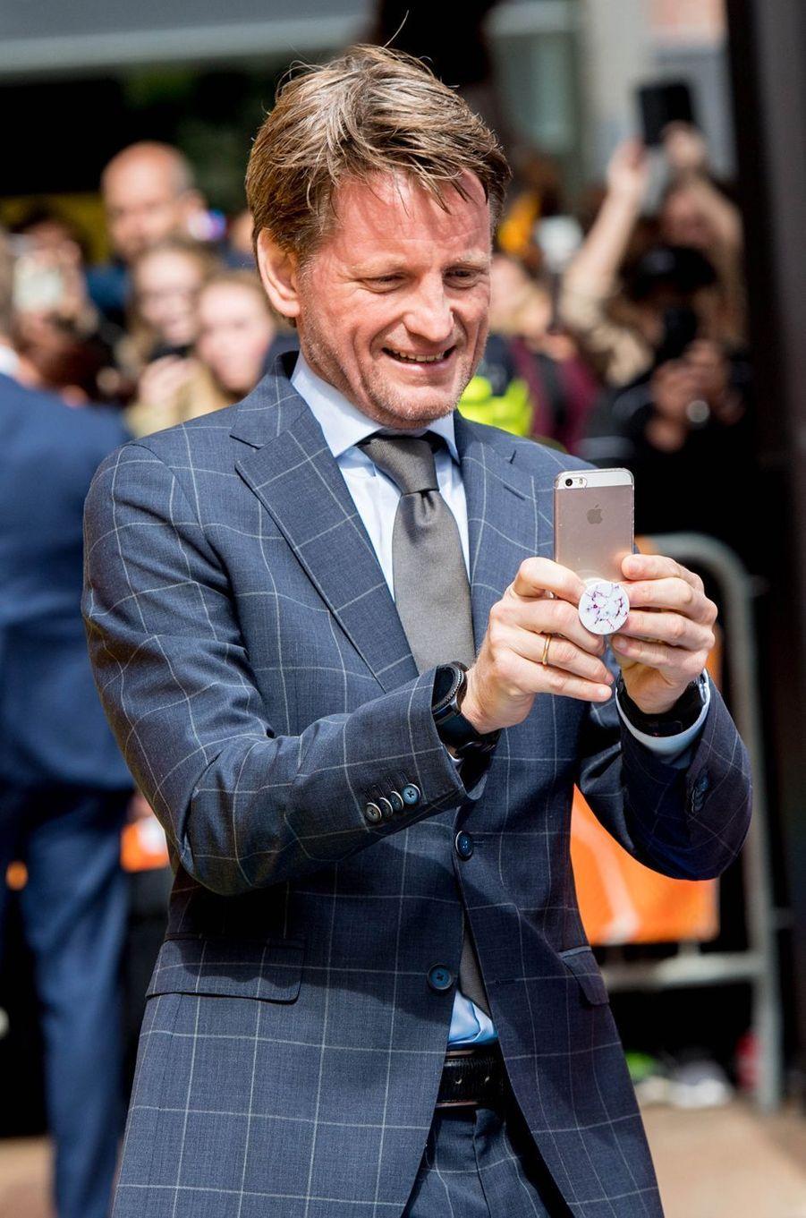 Le prince Pieter-Christiaan des Pays-Bas, à Groningen le 27 avril 2018