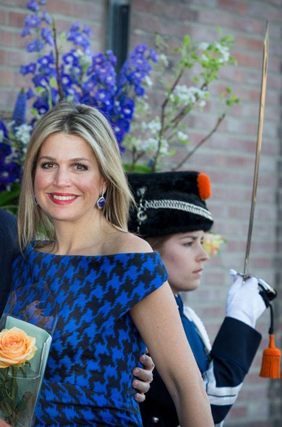 La reine Maxima des Pays-Bas à Dordrecht, le 14 avril 2015