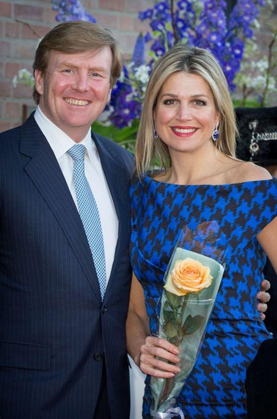 Le roi Willem-Alexander et la reine Maxima des Pays-Bas à Dordrecht, le 14 avril 2015