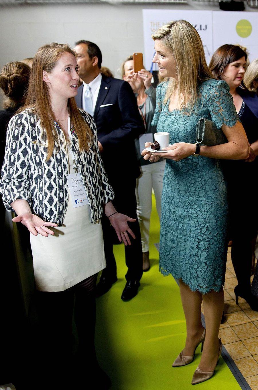 La reine Maxima des Pays-Bas à Amsterdam, le 23 mai 2016