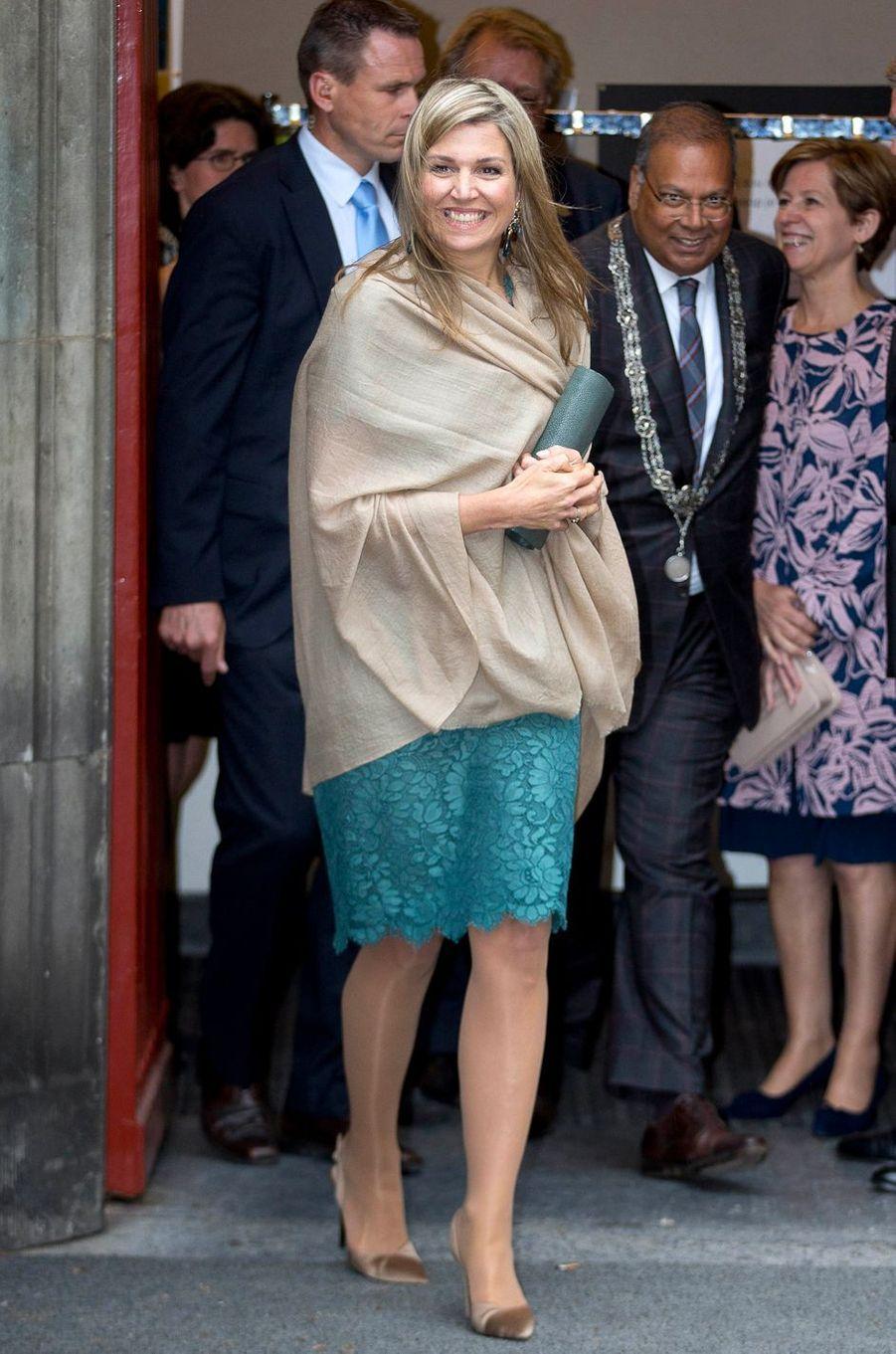 La reine Maxima des Pays-Bas à La Haye, le 23 mai 2016