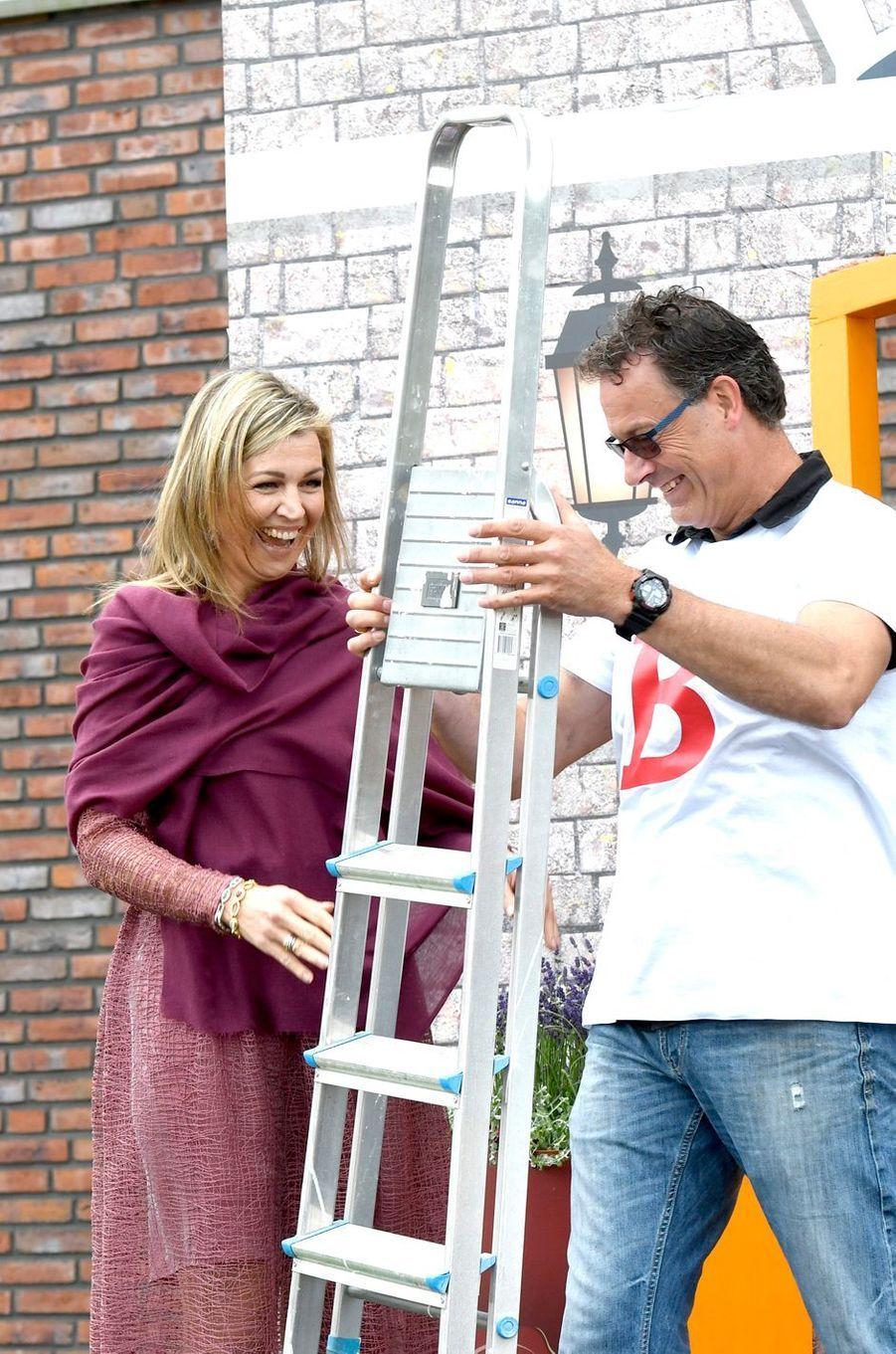 La reine Maxima des Pays-Bas à Nieuw-Buinen, le 13 juin 2017