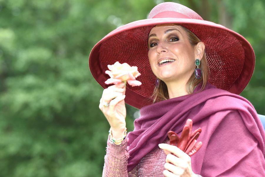 La reine Maxima des Pays-Bas à Winschoten, le 13 juin 2017