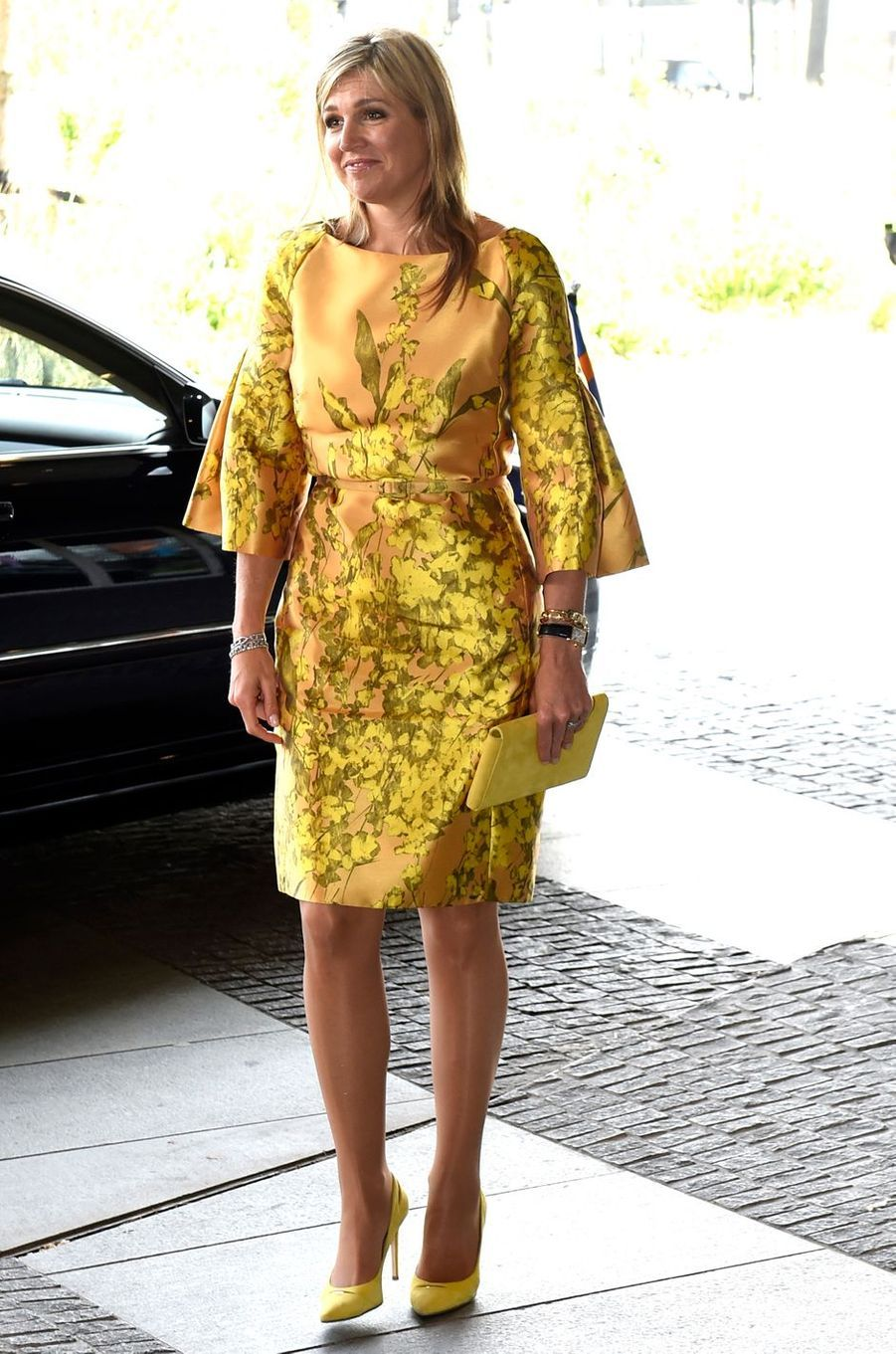 La reine Maxima des Pays-Bas à La Haye, le 17 mai 2016