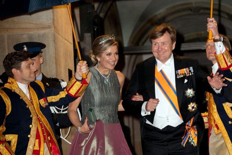 La reine Maxima et le roi Willem-Alexander des Pays-Bas à Amsterdam, le 24 avril 2018